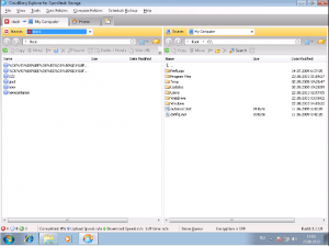 screenshot of Cloudberry Explorer file synch