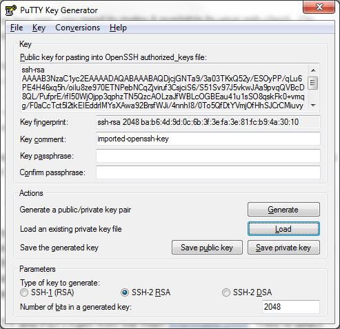 puttygen-load-key
