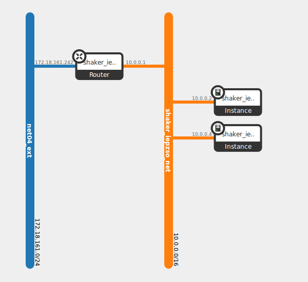 diagram depicting a pair instances in the same network