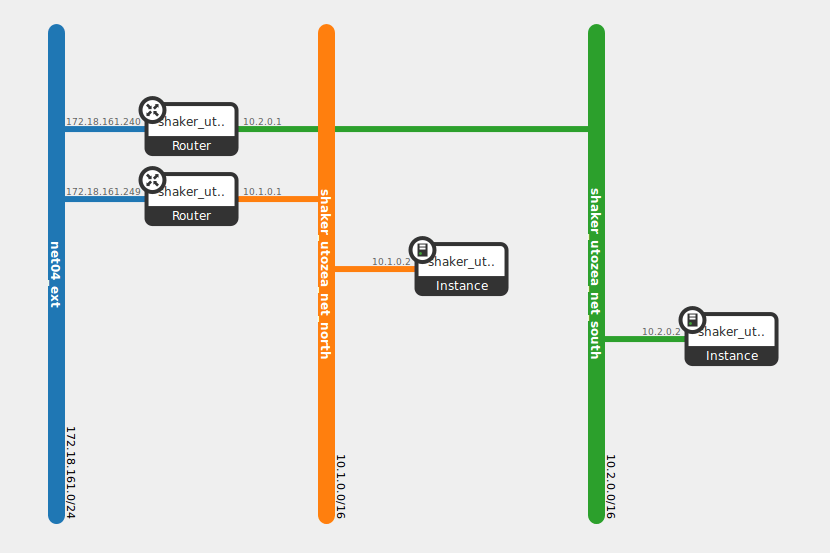 diagram depicting a pair of instances deployed in multiple networks