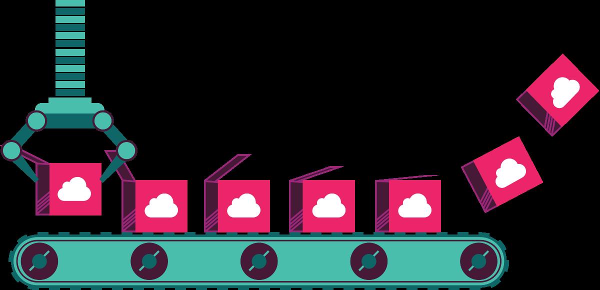Illustrated conveyor belt