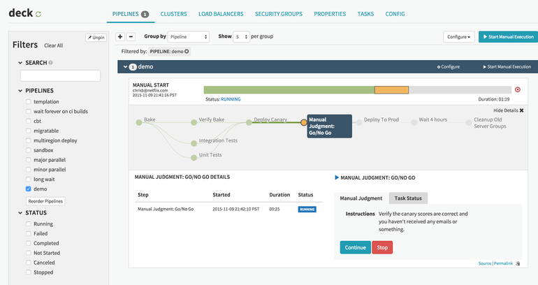screenshot of Pipeline Builder workflow self-service from deck dashboard