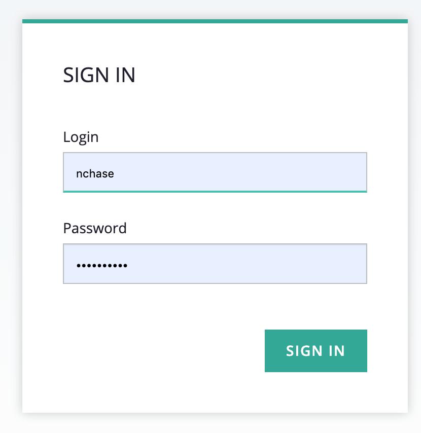 screenshot of sign in window for KaaS web UI