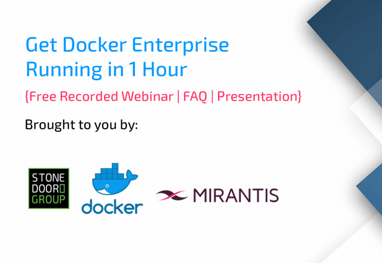 Getting Docker Enterprise Edition Running in 1 Hour