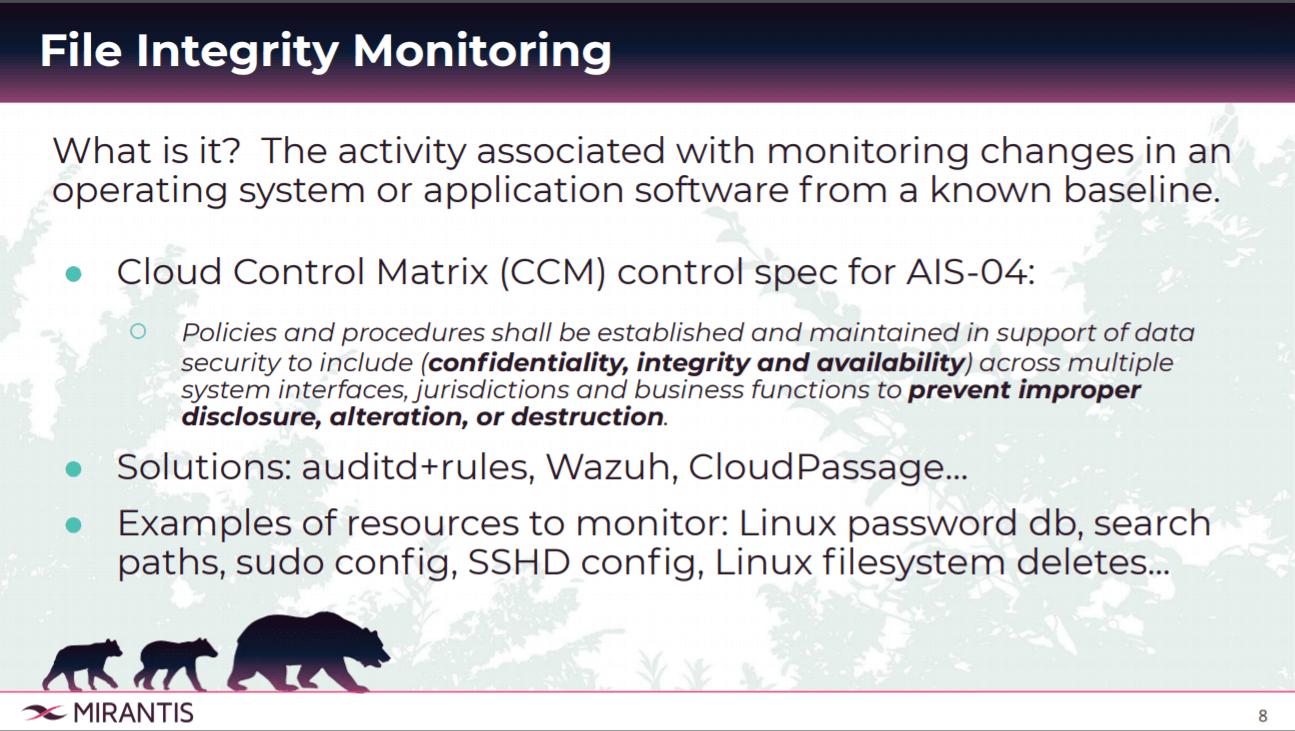 File Integrity Monitoring Strategies